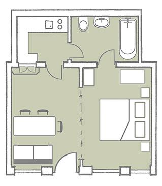 Ferienwohnungen for Wohnzimmer 40 qm